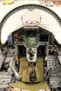 Typhoon fighter cockpit