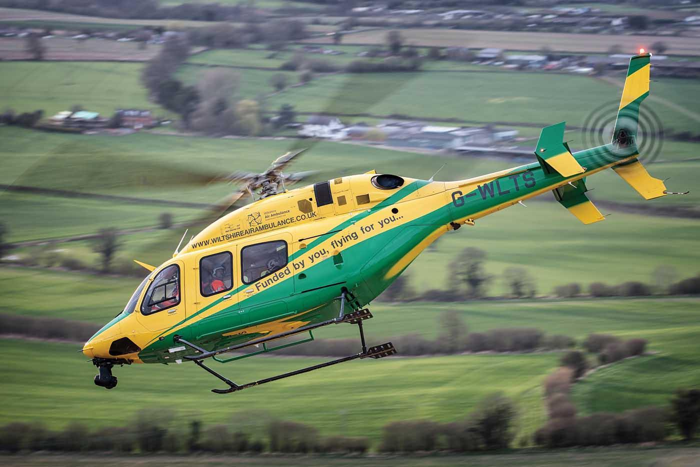 Wiltshire Air Ambulance Bell 429 helicopter